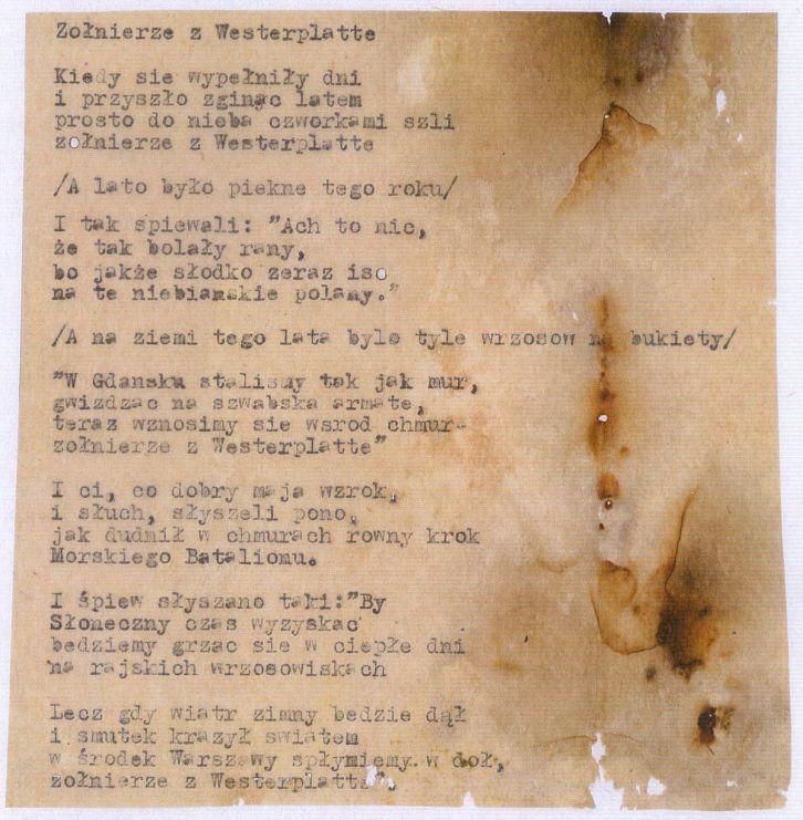 Prawda I Poezja W Pieśni O żołnierzach Z Westerplatte